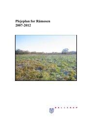 Plejeplan for Råmosen 2007-2012 - Ballerup Kommune