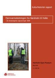 Fjernvarmeledningen fra Hørsholm til Holte - de arkæologiske ...