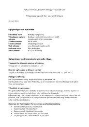 Varslet tilsyn Vangsbovej 14. juni 2012 - Aarhus.dk
