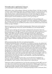 Referat - Landsforeningen for Marfan Syndrom