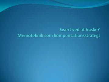 Memo-foredrag