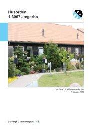 Husorden 1-3067 Jægerbo - Boligforeningen 3B