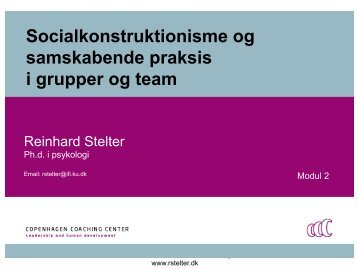 Socialkonstruktionisme - samskabende praksis - Copenhagen ...