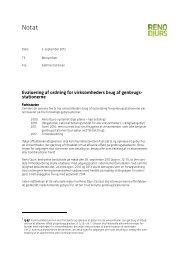 Bilag 21 Evaluering af ordning for virksomheders brug ... - Reno Djurs