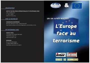 L'Europe face au terrorisme L'Europe face au terrorisme - Iris