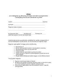 Aftale om modtagelse og aflevering af lokaler - Vordingborg Kommune