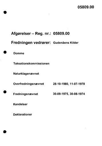 05809.00 Afgørelser - Reg. nr.: 05809.00 ... - Naturstyrelsen