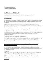 Handleplan - University College Lillebælt