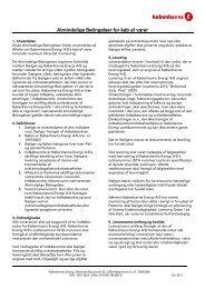 Almindelige Betingelser for køb af varer - hofor