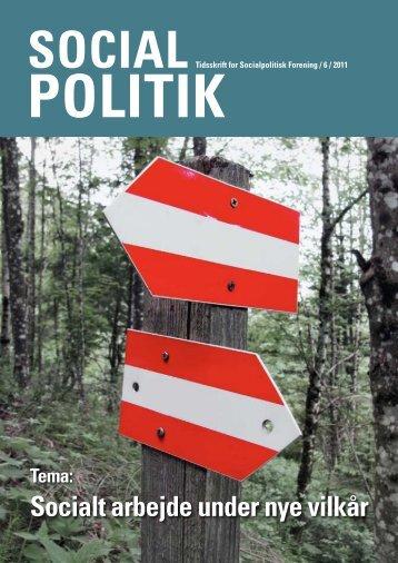 Socialt arbejde under nye vilkår - Socialpolitisk Forening