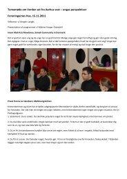 Temamøde om Verden set fra Aarhus vest – unges ... - Mission Afrika