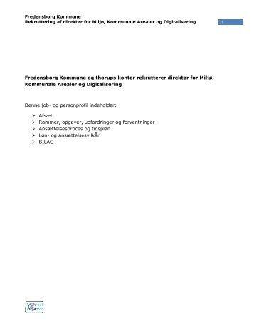 Jobprofil (PDF) - Ledige jobs i Fredensborg Kommune