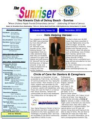 The Kiwanis Club of Delray Beach - Sunrise - KiwanisOne.org