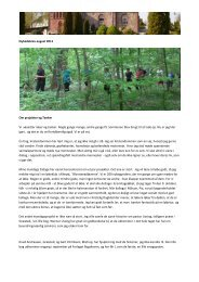 Nyhedsbrev august 2011 Om projekter og Tanker Vi ... - Blistrup Kirke