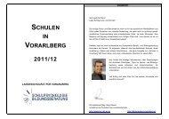 SCHULEN IN VORARLBERG 2011/12