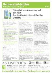 Dermorapid-farblos Wirkstoff -  Antiseptica Austria