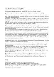TL MidtVest beretning 2011 - Teknisk Landsforbund