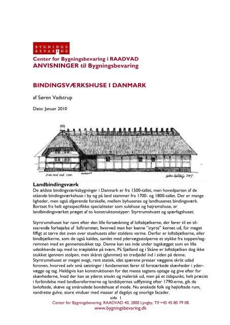 Bindingsværkshuse i Danmark - Center for Bygningsbevaring