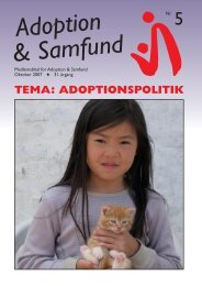 Okt. 2007 - Adoption og Samfund