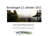 Grunneierne som vindkraftprodusenter og ... - Norges Bondelag
