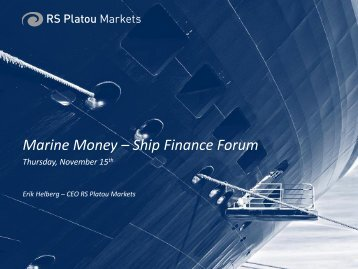 RS Platou - Marine Money