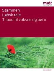 Stammen Løbsk tale Tilbud til voksne og børn - Region Midtjylland