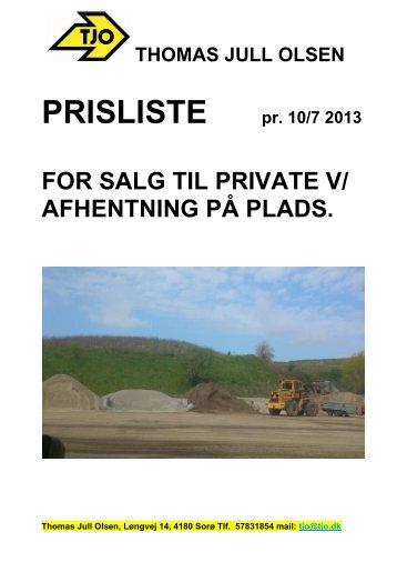 Kontantsalg 2013 - Thomas Jull Olsen