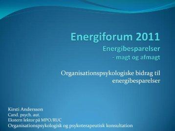 Energiforum 2011 Energibesparelser - magt og afmagt - Energiforum ...