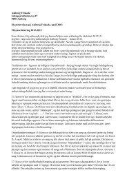 Tilsynserklæring for 2012-2013 - Aalborg Friskole