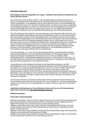 Artikel als PDF zum Download - Vienna Business School