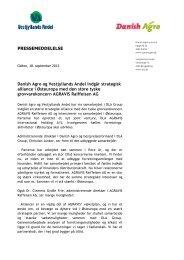 Danish Agro og Vestjyllands Andel indgår strategisk ... - DLA Agro