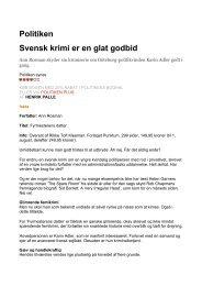 Politiken Svensk krimi er en glat godbid - Forlaget Punktum