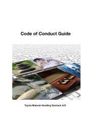 Code of Conduct Guide - Toyota Material Handling Danmark