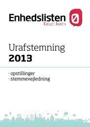 Urafstemning 2013 - Sydhavnen - Enhedslisten