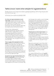 Fælles ansvar i teams letter arbejdet for sagsbehandlerne - KREVI