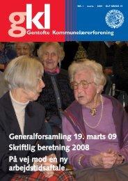 Skriftlig beretning, GKL-bladet - Gentofte Kommunelærerforening
