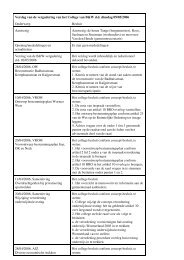 W-verslag 9 mei 2006 openbaar - Besluitvorming