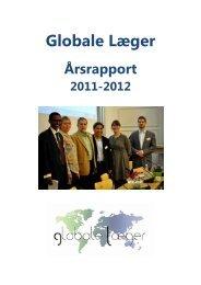 Bestyrelsens beretning for 2011-2012 - Global Doctors