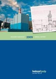 Geschäftsbericht 2009 Annual report - Zellstoff Pöls AG