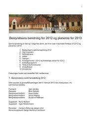 Årsberetning 2012 for Kulturhuset Birkelundgaard