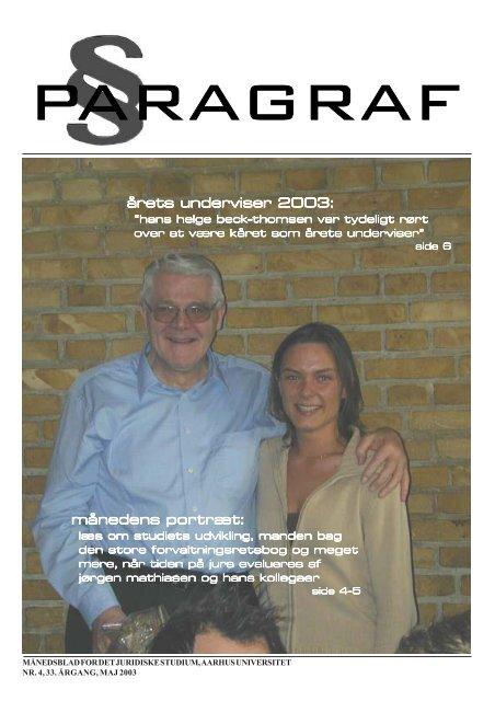 årets underviser 2003: månedens por månedens portræt: - Paragraf