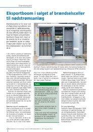 Eksportboom i salget af brændselsceller til nødstrømsanlæg - Biopress