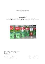 udvikling af en stabil økologisk gødning i flydende ... - LandbrugsInfo