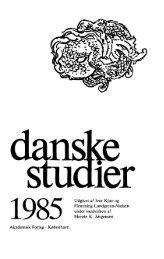 1985 Udgivet af Iver Kjær og Flemming Lundgreen ... - Danske Studier