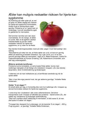 Æbler kan muligvis nedsætter risikoen for hjerte-kar- sygdomme
