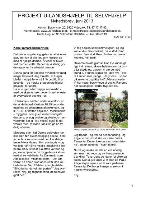 tryk her - Projekt U-landshjælp til Selvhjælp