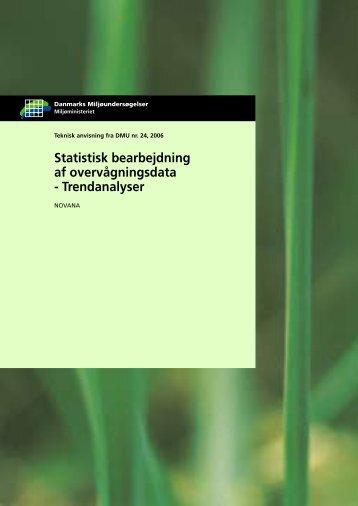Statistisk bearbejdning af overvågningsdata - Trendanalyser ...