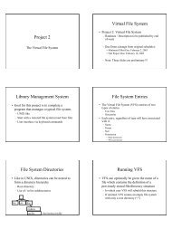 Project 2 Virtual File System Library Management System File ...