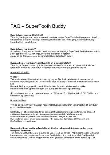 FAQ – SuperTooth Buddy - FDM netbutik