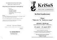 Program KriSoS konference 2013 i Kjellerup